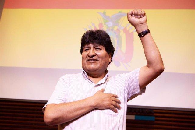 Archivo - El expresidente de Bolivia, Evo Morales