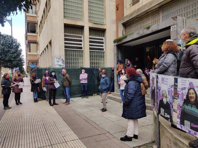Concentración por el 8 de marzo de Comisiones Obreras de La Rioja
