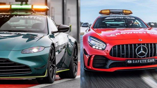 Los coches de segurida de la Fórmula 1