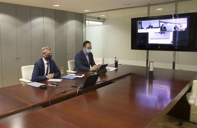 Fotos Xunta /Vicepresidencia Primeira /Videoconferencia Co Secretario De Estado De Turismo.