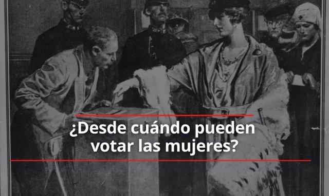 Desde cuándo pueden votar las mujeres