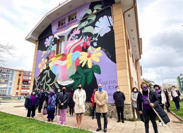 Mural en el Centro de Igualdad