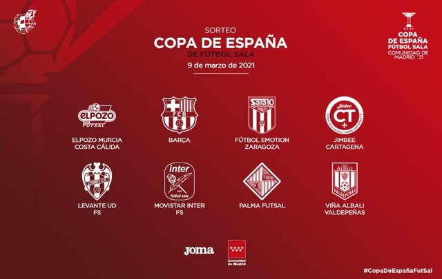 El WiZink Center alberga este martes el sorteo de la Copa de España de fútbol sala.