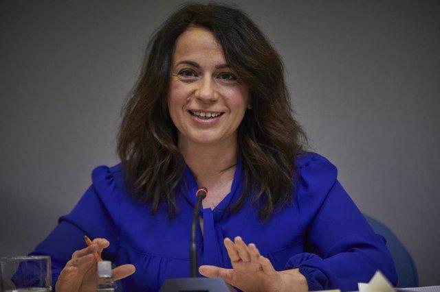 La secretaria de Estado de Sanidad, Silvia Calzón, durante una rueda de prensa sobre el seguimiento de la pandemia por COVID-19, en el Ministerio de Sanidad, en Madrid (España), a 4 de marzo de 2021.