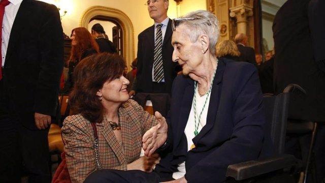 Archivo - Carmen Calvo y Mariluz Escribano, en imagen de archivo