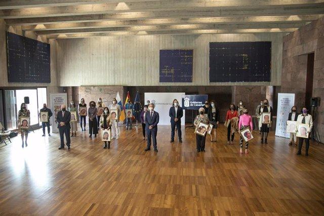 Acto de reconocimiento del Gobierno de Canarias a mujeres deportistas de Tenerife