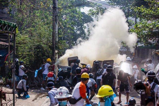 Repressió de les protestes a Rangun, Birmània