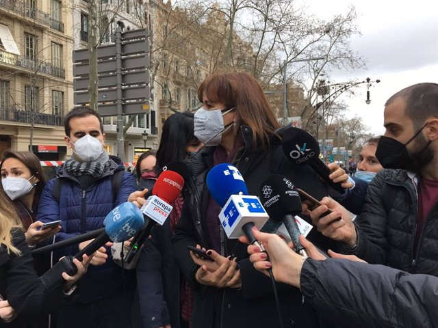 La candidata de Junts a la presidència de la Generalitat, Laura Borràs.