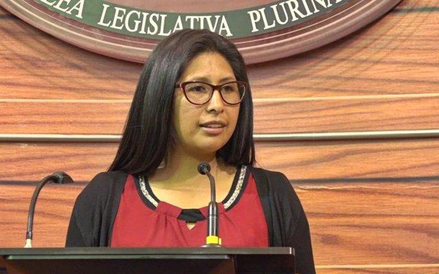 Archivo - Eva Copa (MAS), presidenta del Senado de Bolivia