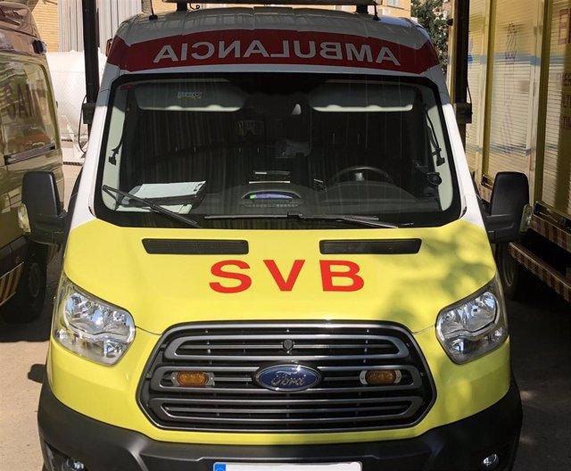 Archivo - Una ambulancia de SVB en imagen de archivo