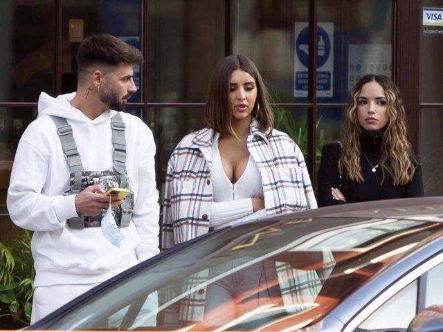 Marina e Isaac compartieron confidencias durante una comida en la capital con Lucía