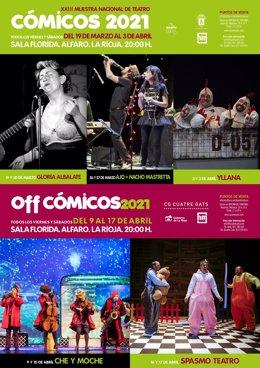 Cartel 'Cómicos' 2021 en Alfaro