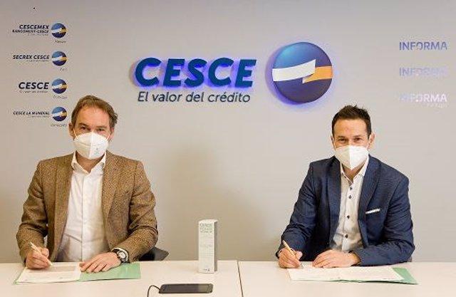 Firma de la póliza verde de Cesce y Zyrcular Foods