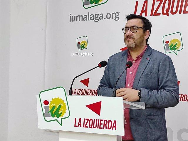 Guzmán Ahumada en rueda de prensa en Málaga