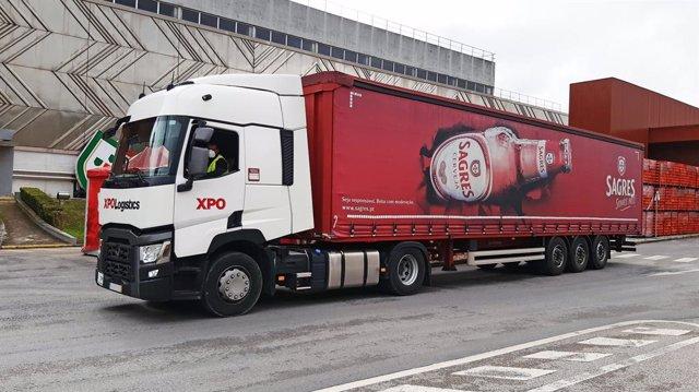 Camión de XPO en Portugal