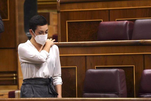 Archivo - La diputada de En Comú Podem Aina Vidal, durante una sesión plenaria en el Congreso de los Diputados.