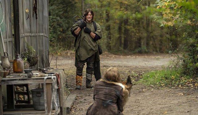 Daryl y Leah en The Walking Dead