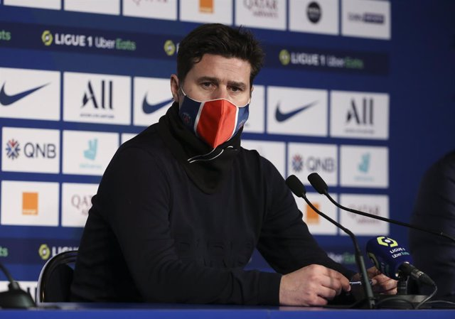Archivo - Coach of PSG Mauricio Pochettino answers to the media during the post-match press conference following the French championship Ligue 1 football match between Paris Saint-Germain (PSG) and Montpellier HSC (MHSC) on January 22, 2021 at Parc des Pr
