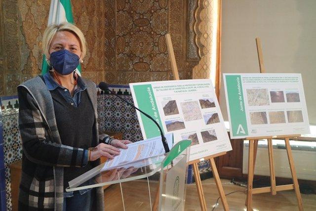 Archivo - La delegada de Fomento en Almería presenta las obras de emergencia en las carreteras de Partaloa y Alhabia