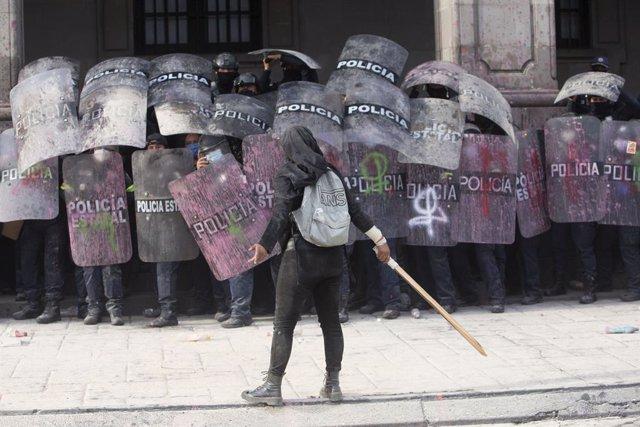 Manifestación por el Día de la Mujer en México.