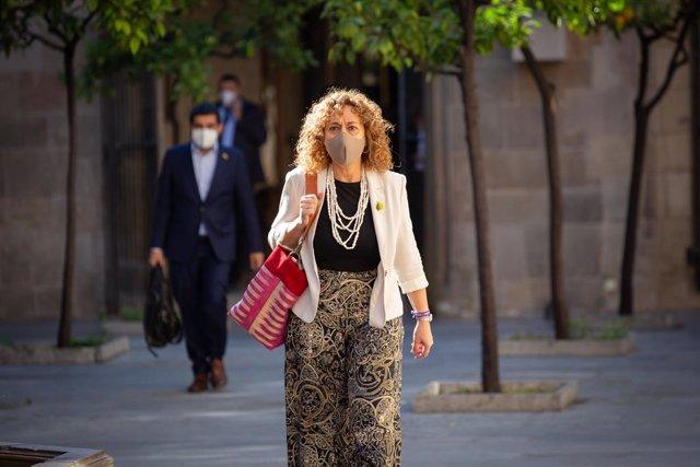 Archivo - Arxivo - La consellera de Justícia, Ester Capella, a la seva arribada al Palau de la Generalita. A Barcelona, Catalunya (Espanya), a 9 de juny de 2020.