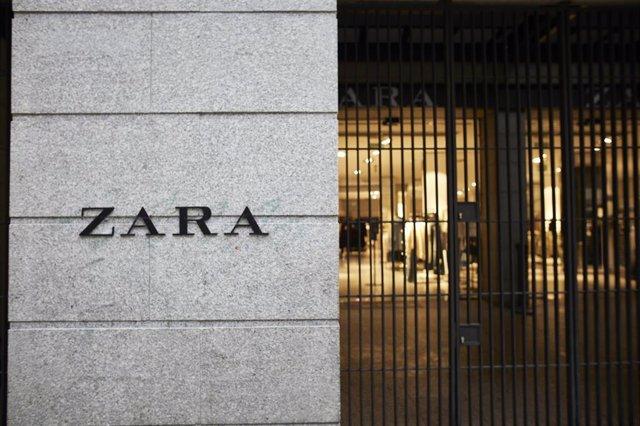 Archivo - Fachada de tienda de Zara (Inditex)