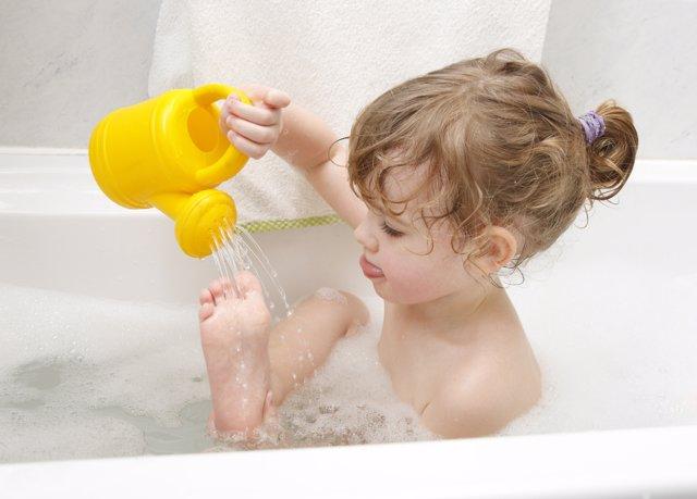 Tomar un baño caliente
