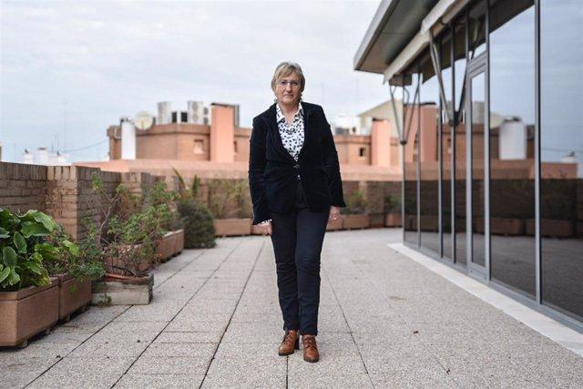 La Consellera de Sanidad de Valencia, Ana Barceló, posa tras una entrevista para Europa Press