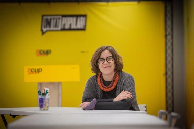 Archivo - Arxiu - La integrant de la llista de la CUP per Barcelona en les eleccions catalanes, Eulàlia Reguant.