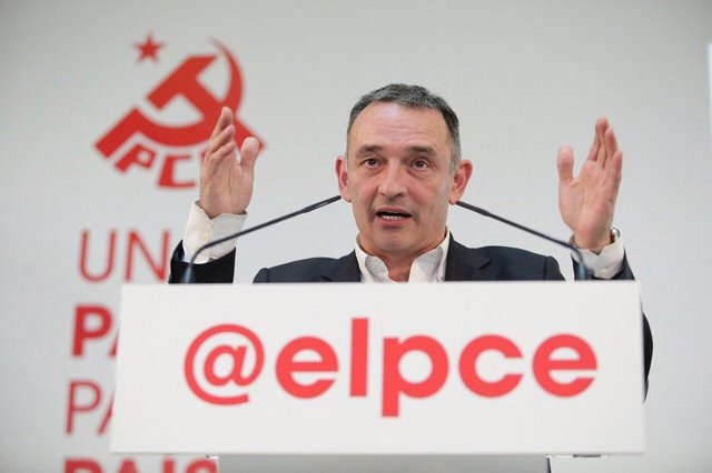 Archivo - Imagen de recurso del secretario general del Partido Comunista de España (PCE), Enrique Santiago.