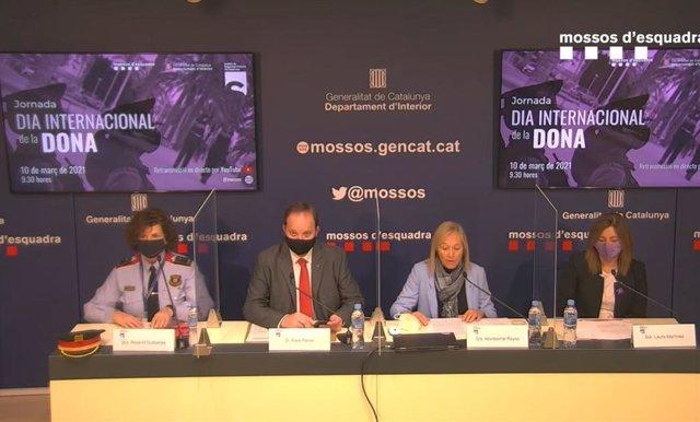 El director general dels Mossos d'Esquadra, Pere Ferrer, intervé en la jornada 'La igualtat entre homes i dones en la PG-EM'