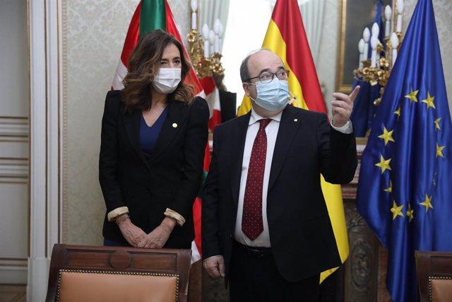 La consellera d'Autogovern del País Basc es reuneix amb Iceta (Arxiu)