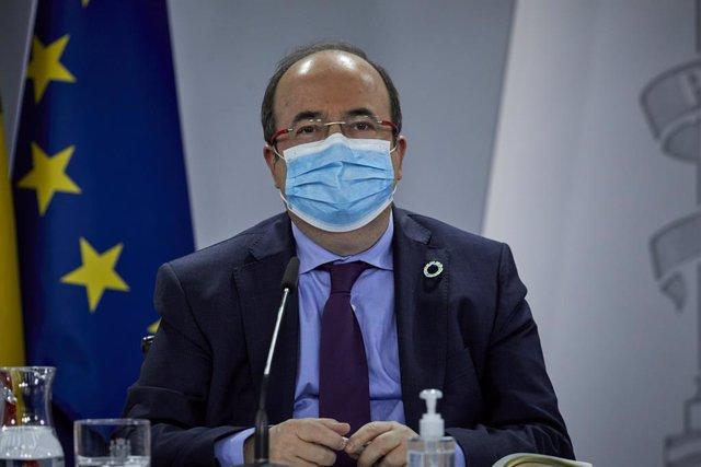 El ministre de Política Territorial i Funció Pública, Miquel Iceta, en una foto d'arxiu.