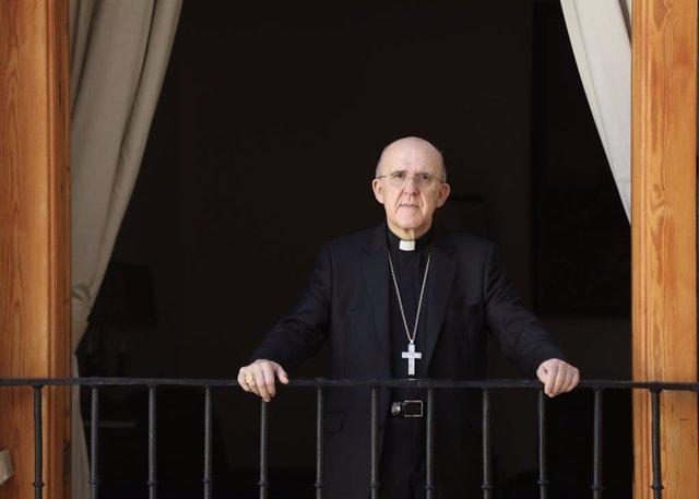 Archivo - Retratos del arzobispo de Madrid, Carlos Osoro, tras una entrevista para Europa Press en la sede del Arzobispado, en Madrid (España), a 11 de septiembre de 2020.