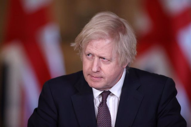 08 March 2021, United Kingdom, London: UK Prime Minister Boris Johnson speaks during a media briefing in Downing Street on coronavirus (COVID-19). Photo: Hannah Mckay/PA Wire/dpa
