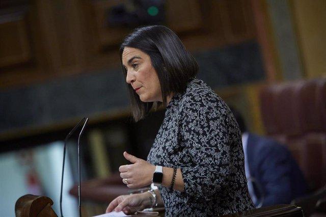 La diputada de Cs, Mari Carmen Martínez Granados, interviene durante una sesión plenaria en el Congreso
