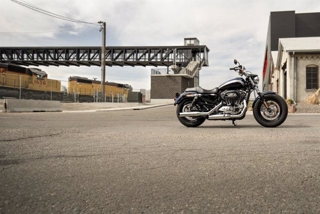 Archivo - Imagen de una moto de Harley-Davidson.