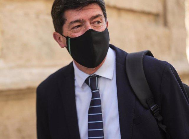 Juan Marín, este miércoles en el Parlamento de Andalucía