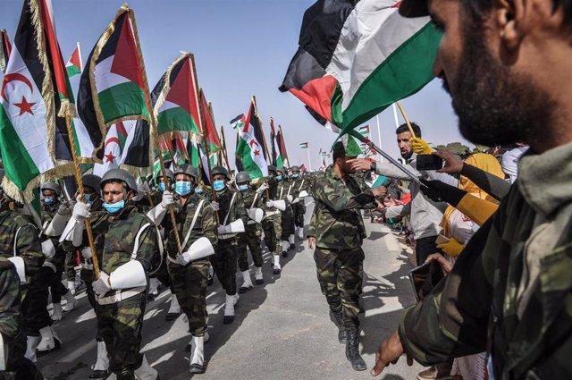 Celebración del 45 aniversario de la proclamación de la República Árabe Saharaui Democrática (RASD) en Tinduf