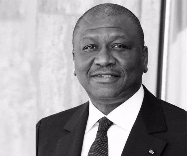 El primer ministro de Costa de Marfil, Hamed Bakayoko, fallecido a causa de un cáncer con 56 años.