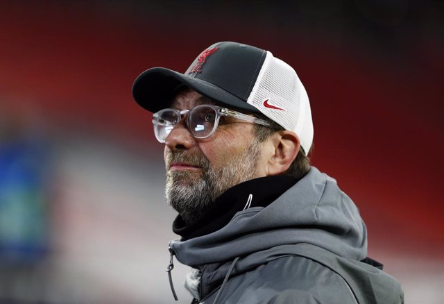 10 March 2021, Hungary, Budapest: Liverpool manager Jurgen Klopp ahead of the  UEFA Champions League round of 16, second leg soccer match between RB Leipzig and FC Liverpool at Puskas Arena. Photo: Trenka Attila/PA Wire/dpa