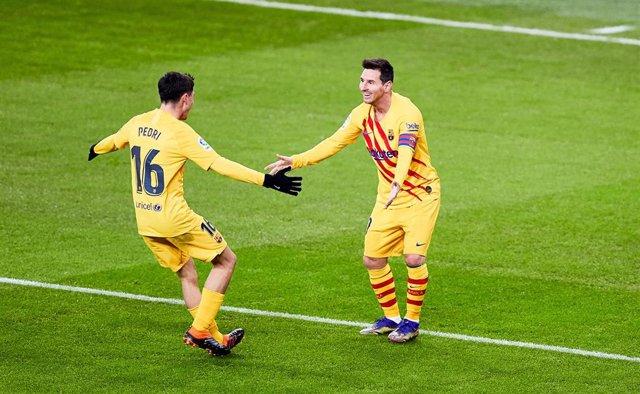 Archivo - Messi y Pedri, Barcelona