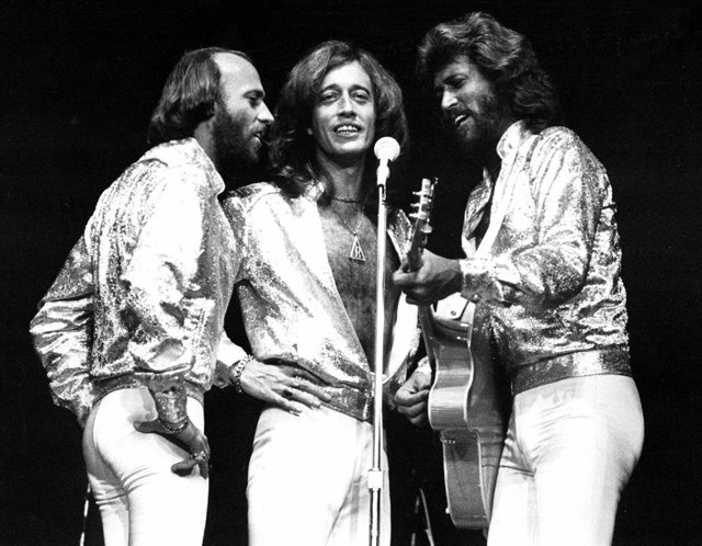 Imagen de archivo del grupo Bee Gees