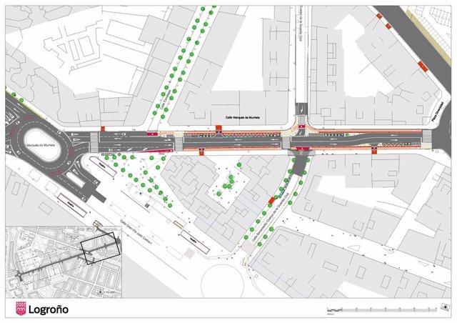 El Ayuntamiento de Logroño presenta el anteproyecto de reforma de la calle Murrieta