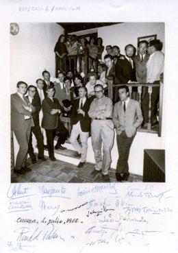 Inauguración para los artistas del Museo de Arte Abstracto Español de Cuenca, 1 de julio de 1966