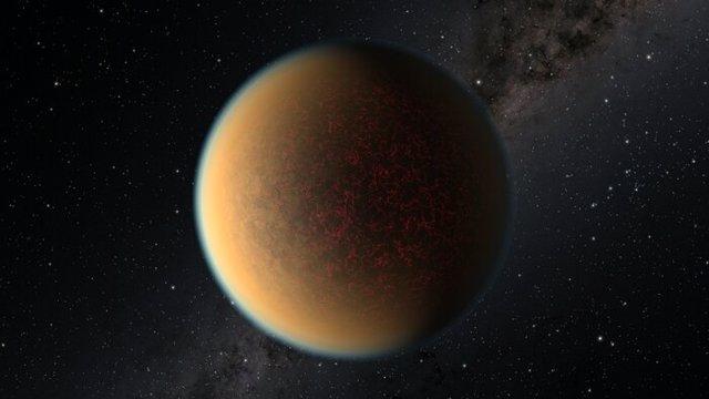 Esta imagen es una impresión artística del exoplaneta GJ 1132 b.