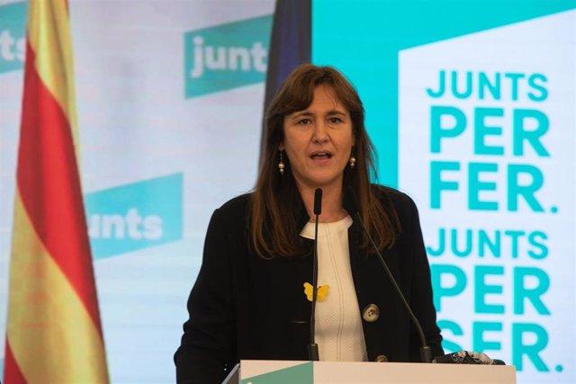 La candidata de Junts per presidir el Parlament, Laura Borràs, en una imatge d'arxiu.