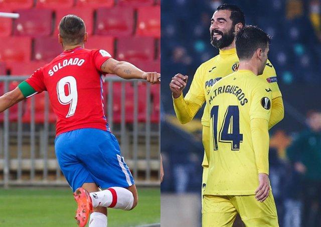 Granada y Villarreal ganan el primer partido de octavos en la Liga Europa