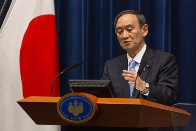 05 March 2021, Japan, Tokyo: Japan's Prime Minister Yoshihide Suga speaks during a press conference on coronavirus (COVID-19) situation. Photo: -/Pool via ZUMA Wire/dpa