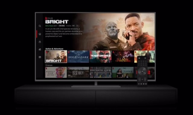 Archivo - Recurso Netflix en el televisor